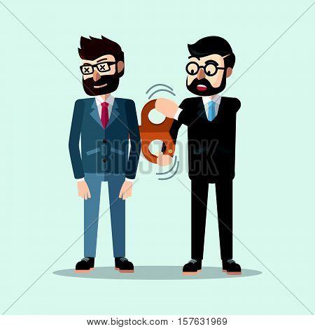 Business man suply energy eps10 vector illustration design