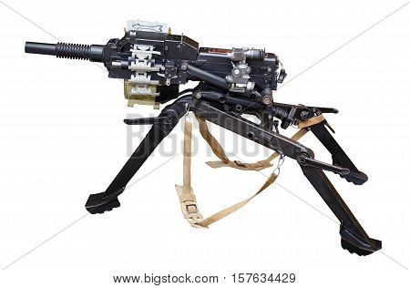 Russian automatic grenade launcher. Isolated on a white background.
