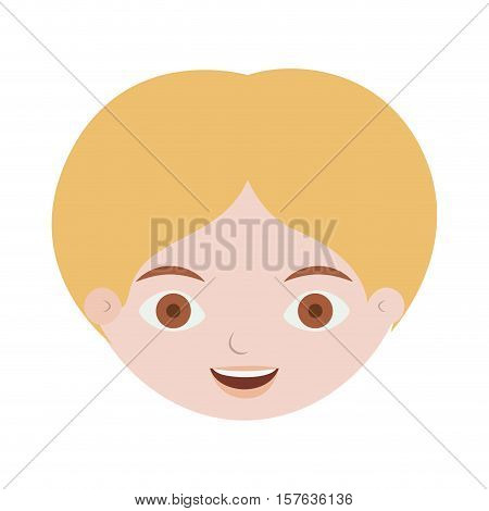 front face man with blond hair vector illustration