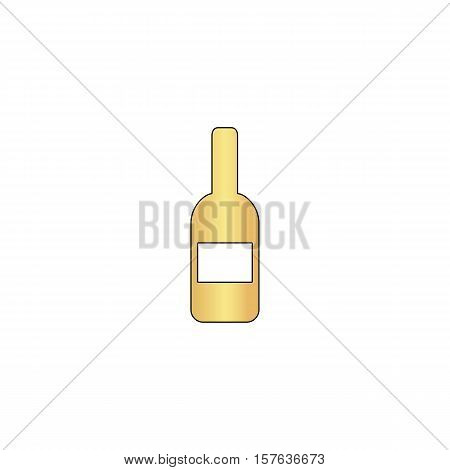 Wine Gold vector icon with black contour line. Flat computer symbol