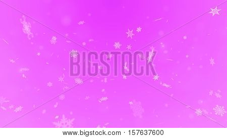 Christmas Snowflakes On Background. Winter Background With Snowflakes. Holiday Greeting With Snowfla