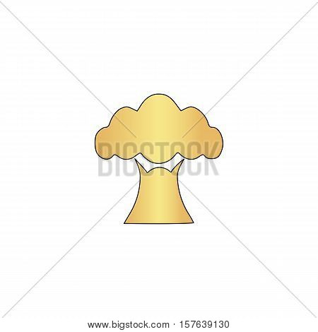 Baobab Gold vector icon with black contour line. Flat computer symbol