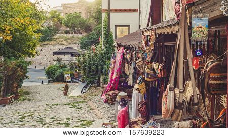 Istanbul Turkey - September 13 2016: Morning time in tourist area of Fatih.