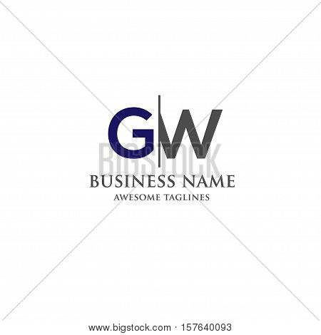 GW letter logo design vector illustration template, G letter logo vector, letter g and w  logo vector, creative Letter GW letter logo
