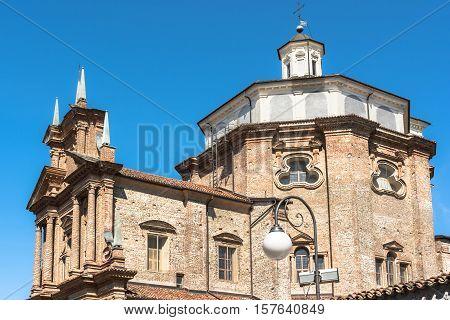 Cherasco,Italy,Europe - May 3, 2016 : Sanctuary of the Madonna del Popolo