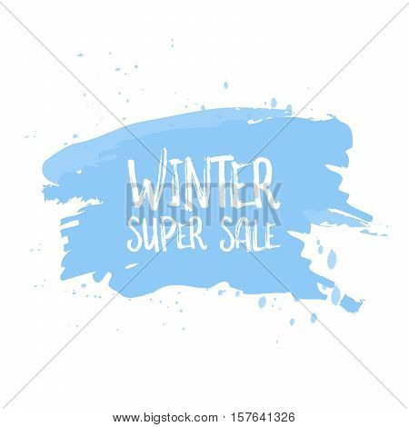 Winter Sale Poster Design Template Or Background. Creative Business Promotional Vector