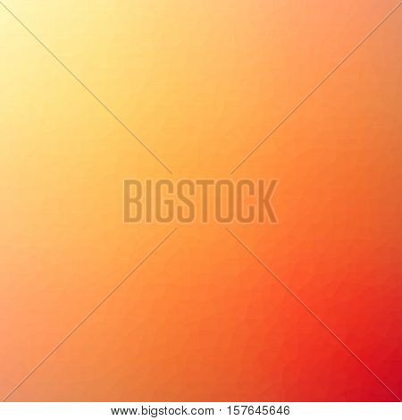 Low Poly Pattern Design. Small Cells. Vector Polygonal Background Filled With Yellow To Orange To Re