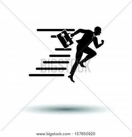 Accelerating Businessman Icon