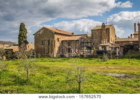 Tuff village of Sovana in Tuscany, Italy