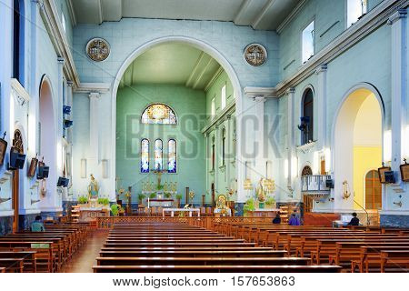 Interior Of The Cathedral Of Macau