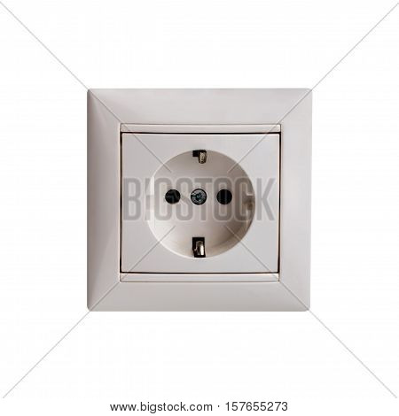 Power outlet and socket isolated. Plug socket.