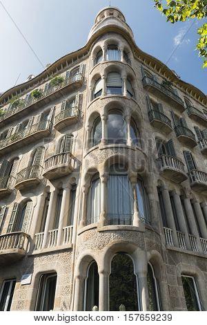 Barcelona (Catalunya Spain): residential building along the Avinguda Diagonal