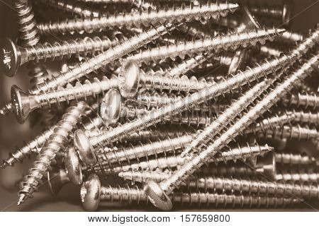Background of Many Screws, Pan Head Self Tapping Screws