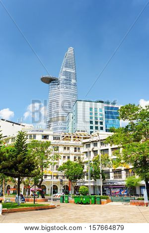 Modern And Old Buildings In Downtown Of Ho Chi Minh, Vietnam