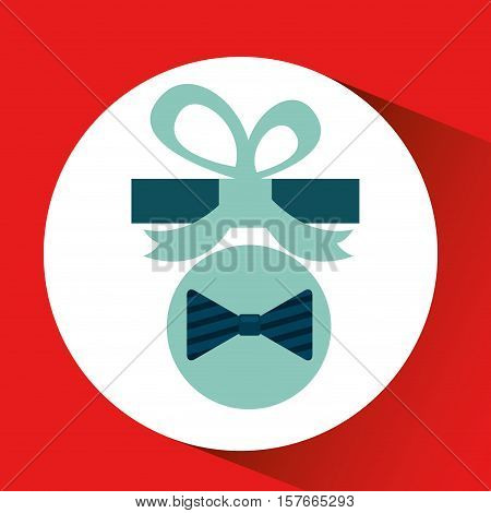 happy fathers day with gift bowtie vector illustration eps 10