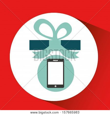 gift father day with smartphone vector illustration esp 10