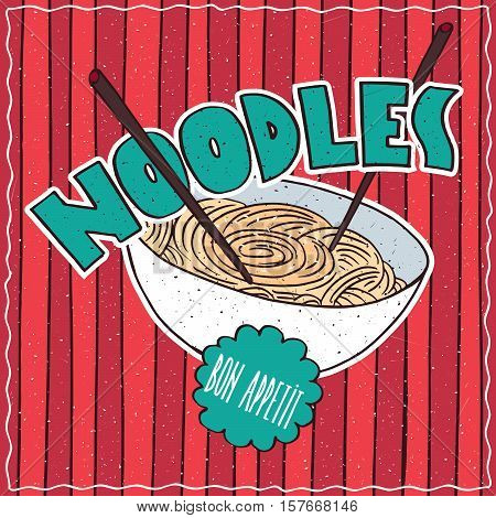 Food Poster With Noodles