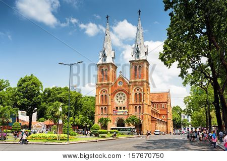 Saigon Notre-dame Cathedral Basilica, Ho Chi Minh, Vietnam