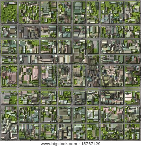 poster of Real Estate Property Neighborhood Homes Top View