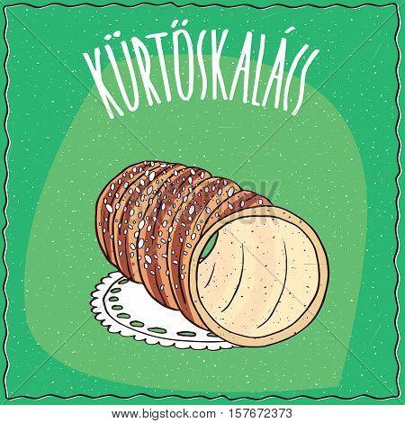 Hungarian Kurtosh Kalach Topped With Sugar