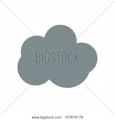 cloud weather icon on white background stock vector illustration