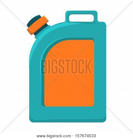 Oil jerrycan icon in cartoon style isolated on white background. Oil industry symbol vector illustration.