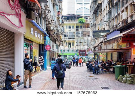 Street In The Historic Centre Of Macau