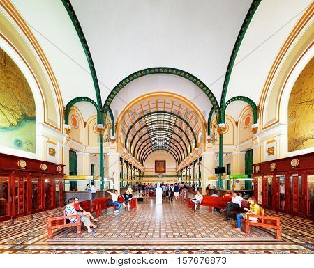 Interior Of Saigon Central Post Office, Ho Chi Minh, Vietnam