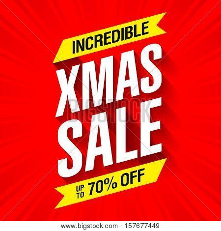 Incredible Xmas sale bright banner