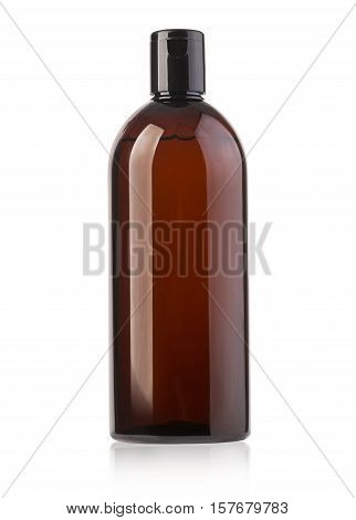 cosmetic bottle isolated on white with clipping path