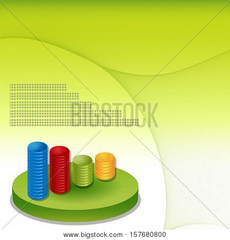 Financial info graphic background  in vector format