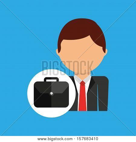 portfolio business man suit worker icon vector illustration eps 10