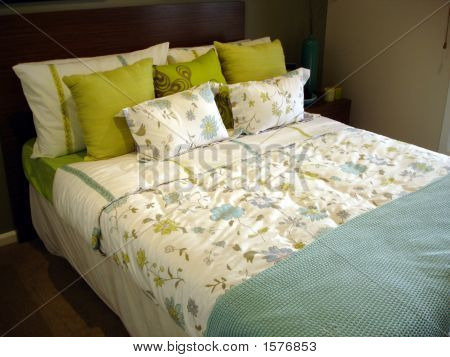 Patterned Bedroom