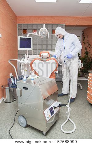 Cleaning Dental Office