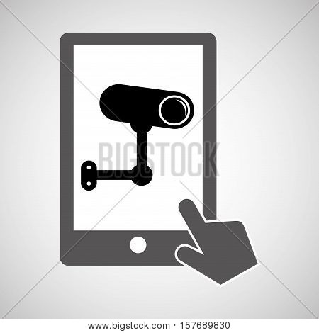 data protection smartphone surveillance vector illustration eps 10 poster