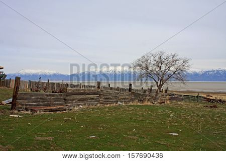 Fielding Garr Ranch on Antelope Island in the Salt Lake