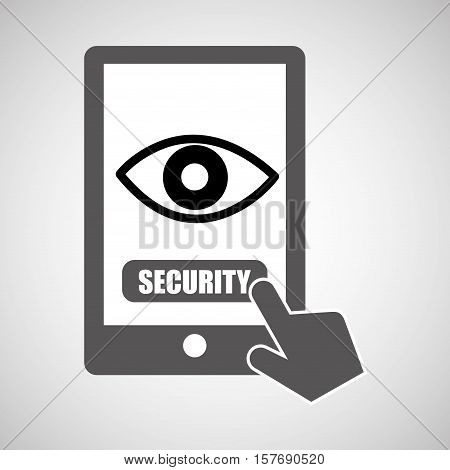 data protection smartphone eye surveillance graphic vector illustration eps 10