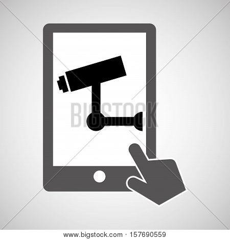 data protection smartphone surveillance camera vector illustration eps 10