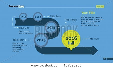 Timeline chart. Business data. Element of presentation, chart, diagram. Concept for infographics, business templates, reports. Can be used for topics like working process, planning, business strategy