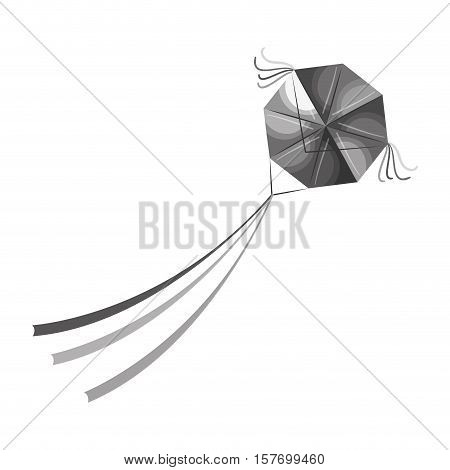 kite flying toy isolated icon vector illustration design