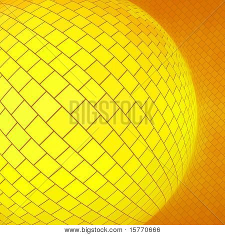 Golden sphere. Vector creative background.