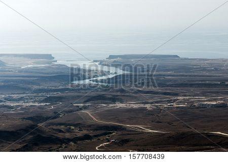 aerial View coast wadi derbat Taqah Sultanate of Oman region Dhofar Salalah