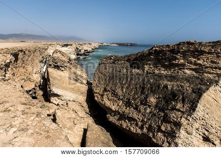 coastside view Taqah plateau City Salalah Dhofar Sultanate of Oman