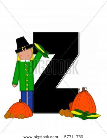 Alphabet Children Thanksgiving Z