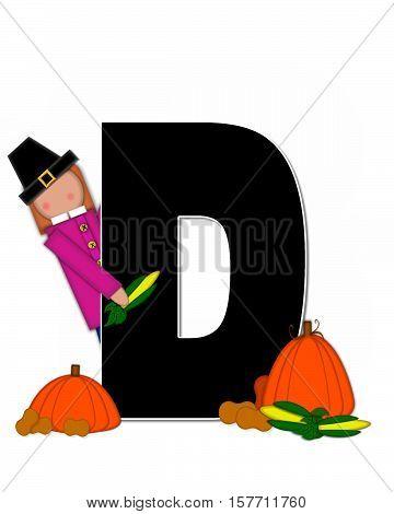 Alphabet Children Thanksgiving D