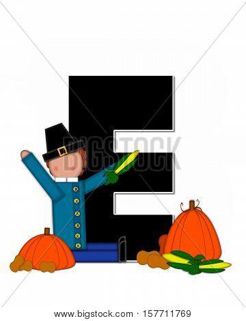 Alphabet Children Thanksgiving E