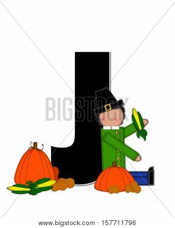 Alphabet Children Thanksgiving J