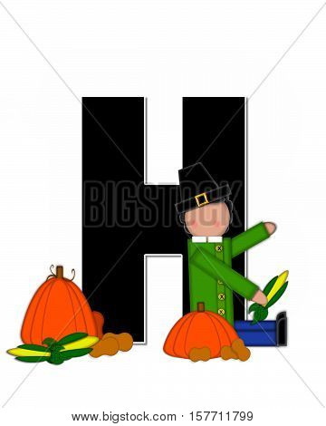 Alphabet Children Thanksgiving H