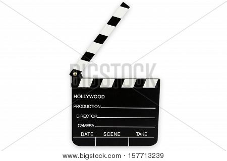Cinema Clipboard isolated on white background. Shot in Studio