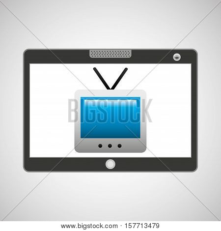 touchpad digital television wireless vector illustration eps 10